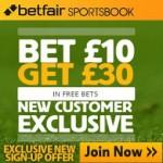 Betfair - Bet £10 get a £30 Free Bet