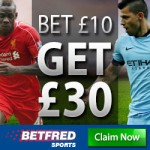 Betfred Bet £10 get a £30 Free Bet