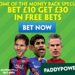 Paddy Power – Bet £10 get a £30 Free Bet